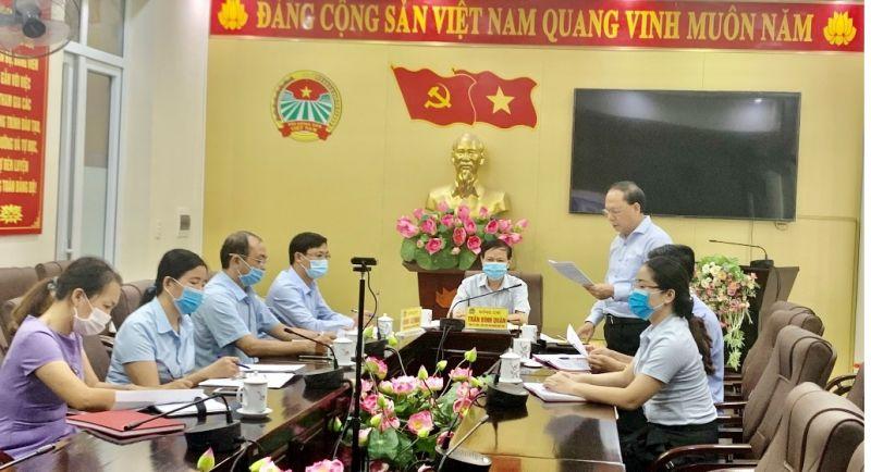 Toàn cảnh điểm cầu trực tuyến Hội Nông dân tỉnh Thanh Hóa
