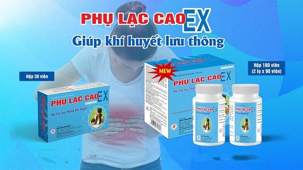 Thực phẩm bảo vệ sức khỏe Phụ Lạc Cao EX – Hỗ trợ lưu thông khí huyết