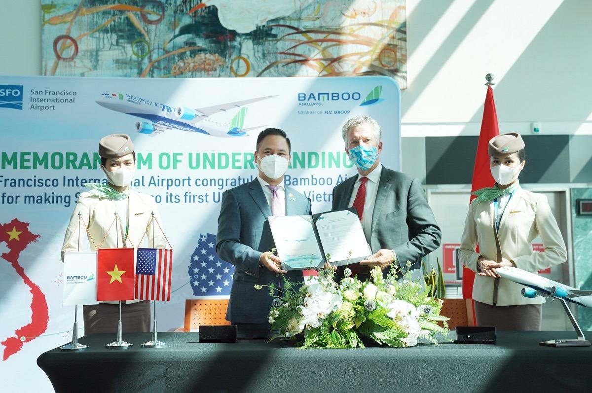 Bản ghi nhớ hợp tác được ký kết hướng tới mục tiêu thúc đẩy kết nối hai thị trường hàng không cũng như hai quốc gia, Việt Nam và Mỹ, thông qua đường bay thẳng thương mại