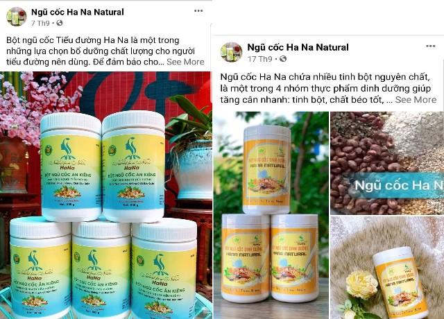 Nhãn hiệu bột ngũ cốc HANA NATURAL chưa được cấp Giấy chứng nhận Vệ sinh an toàn thực phẩm