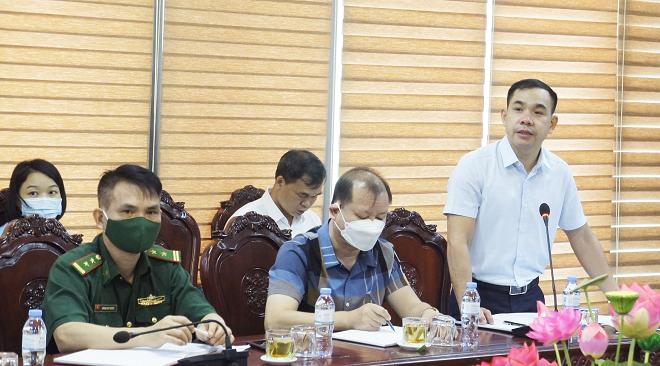 Phó Trưởng ban quản lý khu kinh tế cửa khẩu Đồng Đăng - Lạng Sơn, Hoàng Khánh Duy đã trình bày quy trình sử dụng nền tảng cửa khẩu số