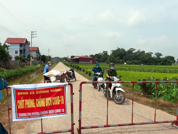 Xã Dương – xã có 3 mặt giáp với địa phận của tỉnh Bắc Giang đã thành lập 9 chốt kiểm soát dịch bệnh COVID-19 .