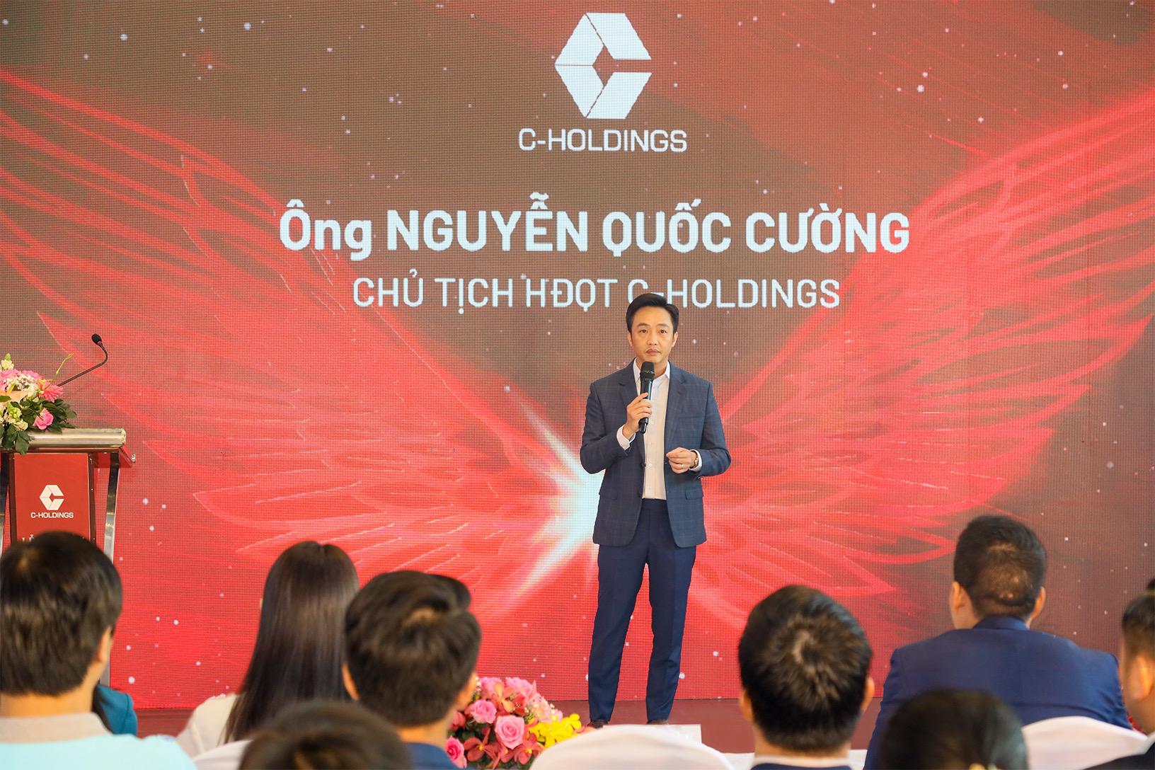 Ông Nguyễn Quốc Cường phát biểu tại Lễ Ra mắt thương hiệu C-Luxury và C-Construction.