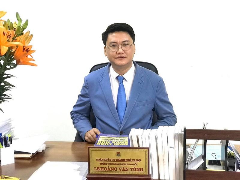 Luật sư Hoàng Tùng - Trưởng văn phòng luật sư Trung Hoà