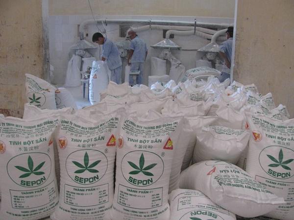 Hoạt động sản xuất tại Nhà máy tinh bột sắn Hướng Hóa do Agribank Quảng Trị đầu tư vốn
