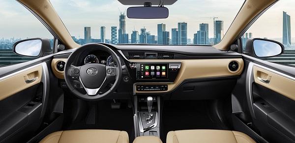 Nội thất của Toyota Corolla Altis