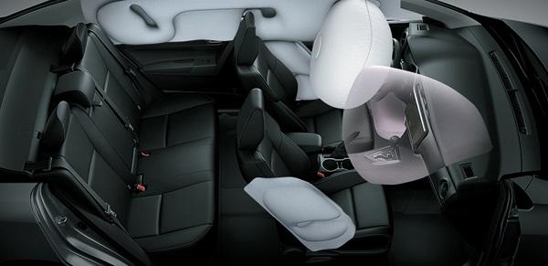 Túi khí của Toyota Corolla Altis