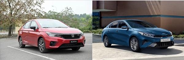 Về kích thước tổng thể, Kia K3 1.6 Luxury dài hơn và trường dáng hơn Honda City khi nhìn từ bên ngoài.