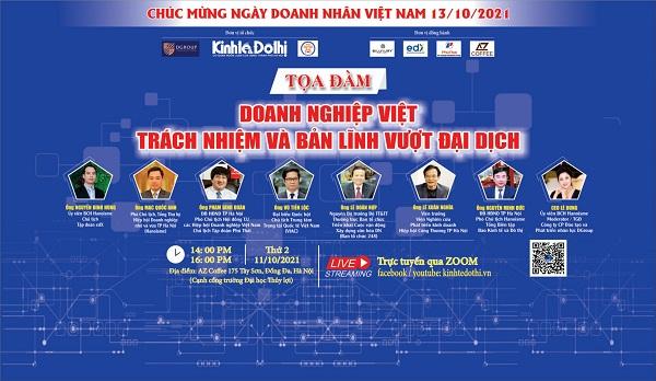 """Tọa đàm """"Doanh nghiệp Việt bản lĩnh, sáng tạo và trách nhiệm trước đại dịch"""""""