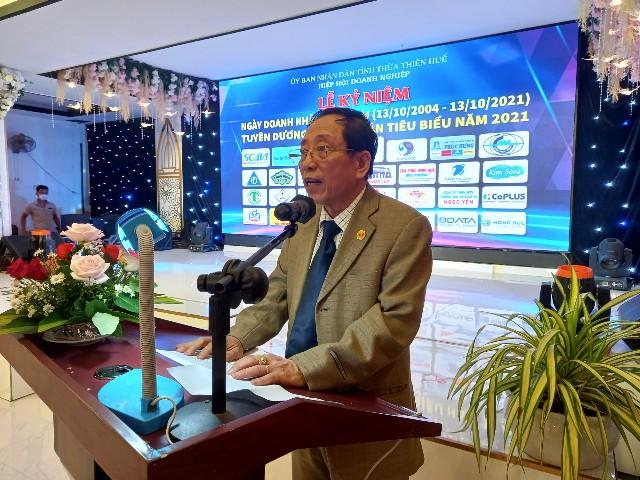 Tiến sĩ Dương Tuấn Anh, chủ tịch Hiệp hội Doanh nghiệp Thừa Thiên Huế