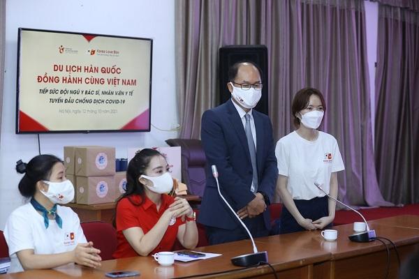 Ông Park Jong Sun - Trưởng Đại diện Tổng cục Du lịch Hàn Quốc phát biểu tại sự kiện