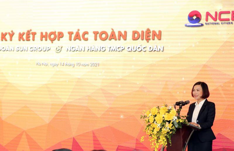 Bà Bùi Thị Thanh Hương - Chủ tịch HĐQT Ngân hàng TMCP Quốc Dân