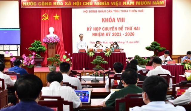 Quang cảnh họp HĐND chuyên đề lần thứ 2