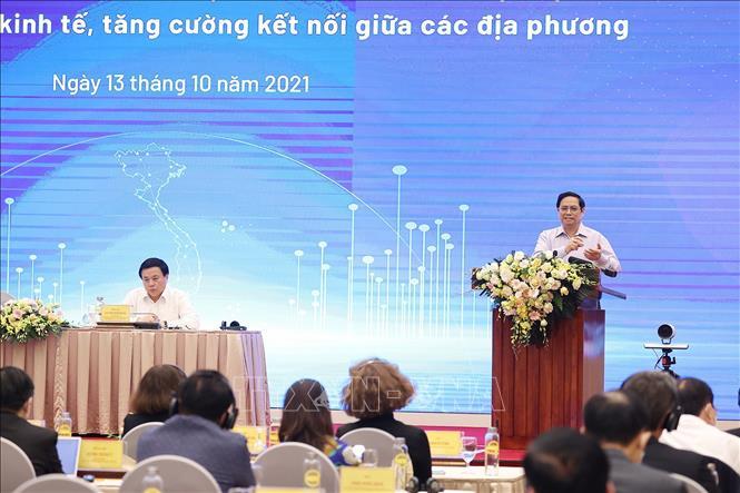 Thủ tướng Phạm Minh Chính phát biểu. Ảnh: Dương Giang/TTXVN